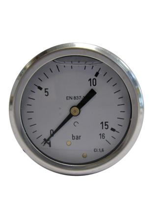Picture of Drukmeter glycerine gevuld, onderaansluiting, 0 - 25 bar