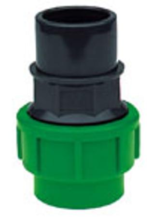Afbeeldingen van Koppeling tyleen x PVC, knel x lijm PE 40 - 40/50, 10 Bar