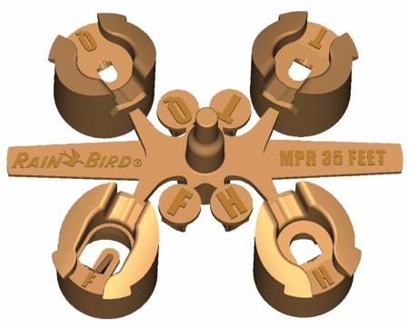 Afbeeldingen van 5000 MPR nozzle set bruin