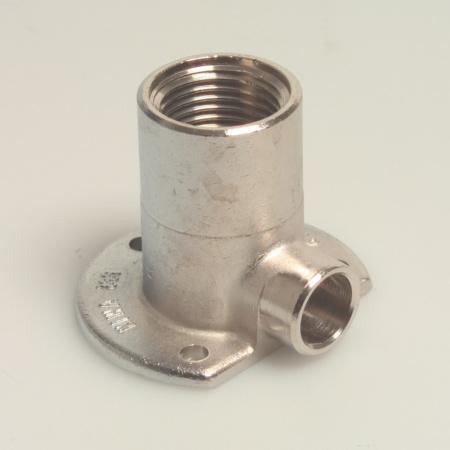 "Picture of Muurplaat hoog model verchroomd KIWA 12 mm x 1/2 """