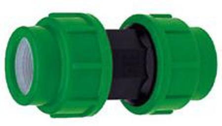Afbeeldingen van Rechte verbinder PE 40 mm, 16 bar