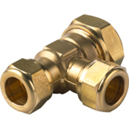 Picture of VSH verlopende T-koppeling 22 mm x 15 mm x 15 mm