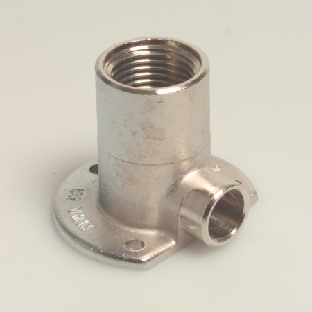"Picture of Muurplaat hoog model verchroomd KIWA 22 mm x 3/4 """