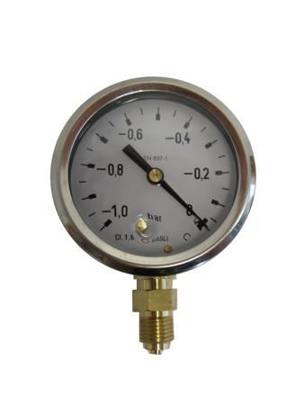 Picture of Vacuummeter glycerine gev., onderaansl. ø 63 mm , -1 tot +0 bar