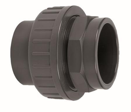 """Picture of PVC koppeling, lijm x bi.draad, 40 mm x 1 1/4"""", 16 bar"""