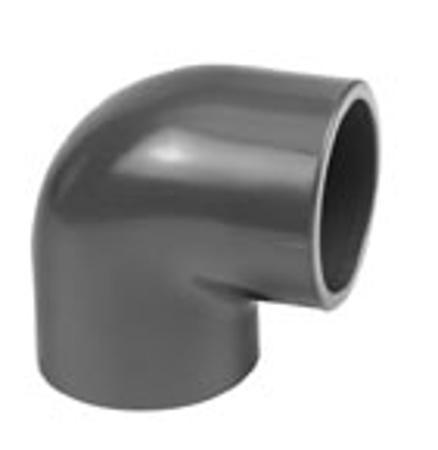 Afbeeldingen van PVC knie 90°, 75 mm, 16 bar KIWA
