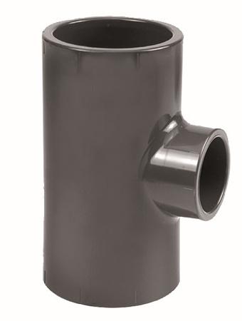 Picture of PVC T-stuk 90°, 75 x 40 x 75 mm, 16 bar, KIWA