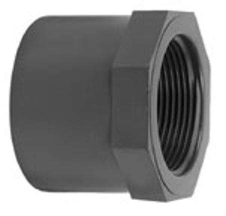 """Afbeeldingen van PVC inlijmring, uitw. lijm x bi.draad, 90/75 x 2"""", 16 bar"""