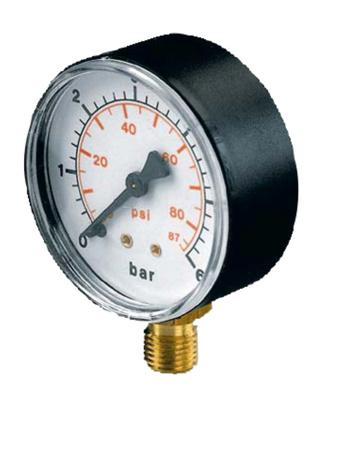 Picture of Drukmeter droog met onderaansluiting.