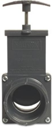 Afbeeldingen van Schuifafsluiter PVC, 63 mm, 2,7 bar