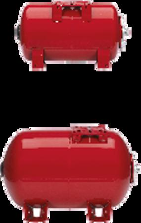 """Picture of VAREM drukvat plaatstaal horizontaal, 200 liter, 1½"""" bu.dr."""