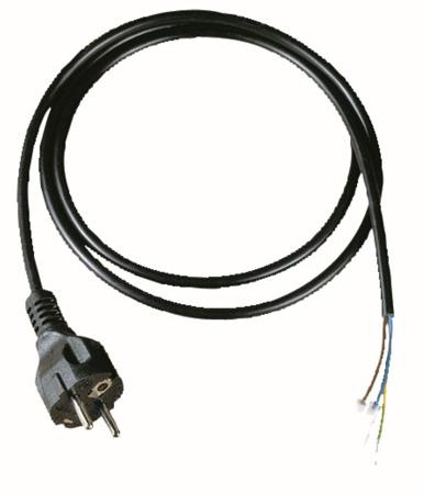 Picture of Aangegoten geaarde stekker met kabel 1 mm²