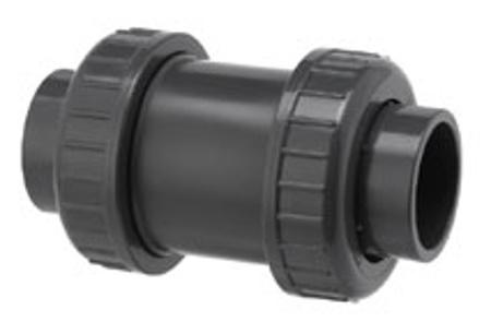 Afbeeldingen van PVC terugslagklep, 2 x lijmwartel 75 mm,10 bar