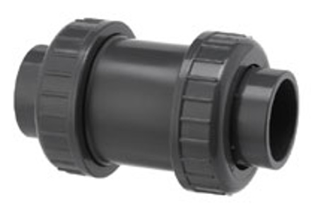 Afbeeldingen van PVC terugslagklep, 2 x lijmwartel 110 mm,10 bar