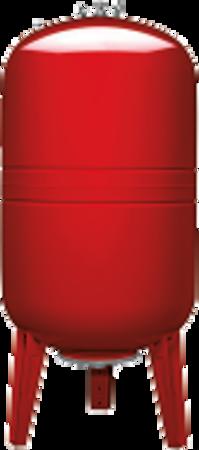 """Picture of VAREM drukvat plaatstaal verticaal, 500 liter, 1½"""" bu.dr."""